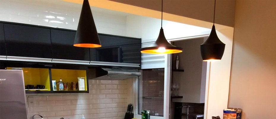 Luminária para cozinha: Lustre ou Pendente?