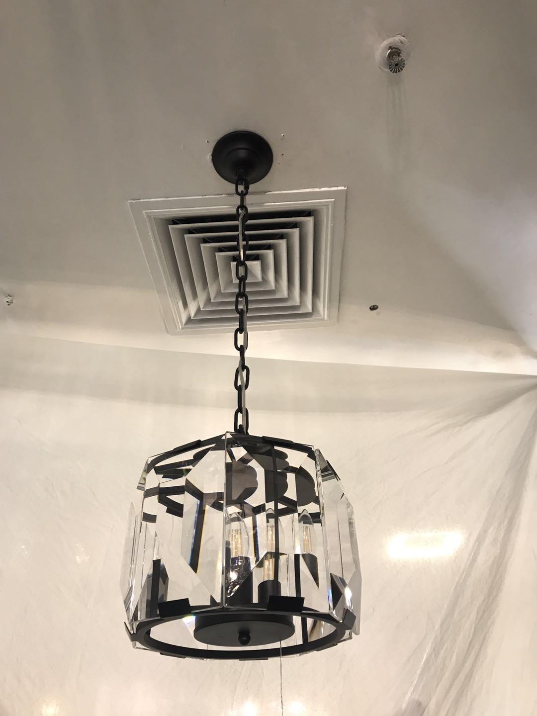 Pendente Hexagono Preto 3 Lâmpadas - Sindora