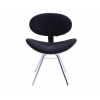 Cadeira Decorativa Bella Base Fixa Preta com Fundo Branco