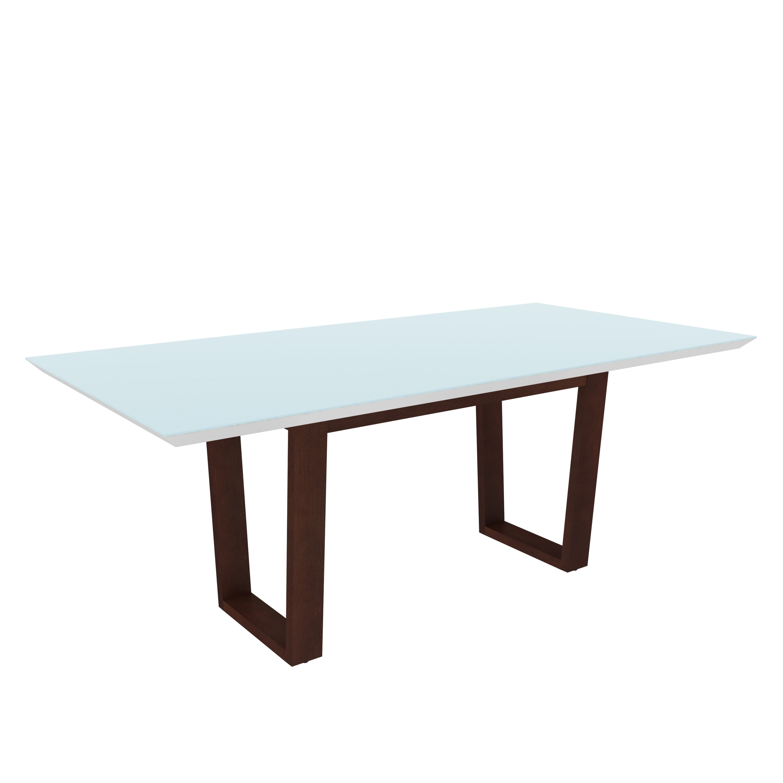 Mesa para Sala de Jantar MJ2122 - Ammo Mobili Branco e Castanho