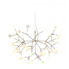 Pendente Twing Dourado Com Led Integrado 22,5w 3000K +Luz Iluminação
