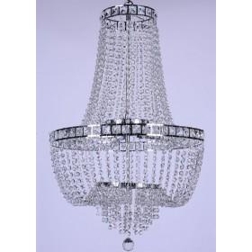 Lustre de Cristal Imperial Transparente 23 Lâmpadas FG Elizabeth