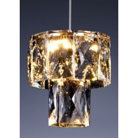 Lustre de Cristal Dourado 9 Discos de LED Fasano Mini - Startec