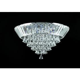 Plafon de Cristal Transparente 6 Lâmpadas Donatela Home Design Pier