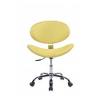Cadeira Decorativa Designchair Bella Base Giratória Cromada Amarela