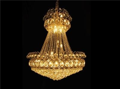 Lustre de Cristal Rose Gold com Cromado 34 Lâmpadas - Frontier