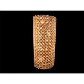 Arandela de Cristal Transparente Bracelete Base Cromada 4 Lâmpadas - Frontier