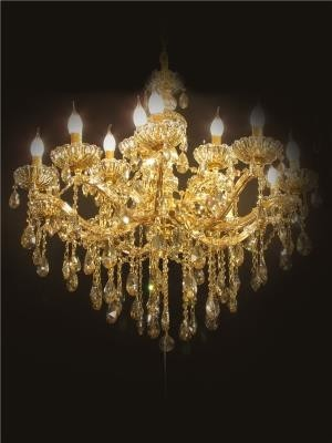 Lustre de Cristal Candelabro Champanhe 15 Lâmpadas - Frontier