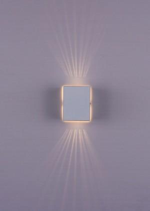 Arandela Branca 2 Fachos 1 Lâmpada Sun