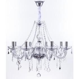 Lustre de cristal Candelabro maria thereza 8 lâmpadas transparente Arquitetizze