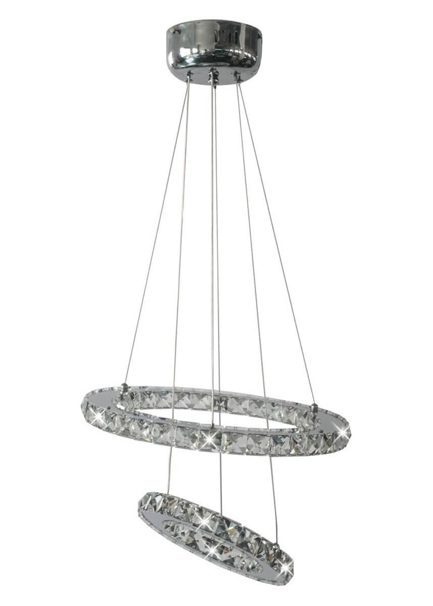 Pendente de Cristal Redondo 30 Lâmpadas LED Embutido Sat