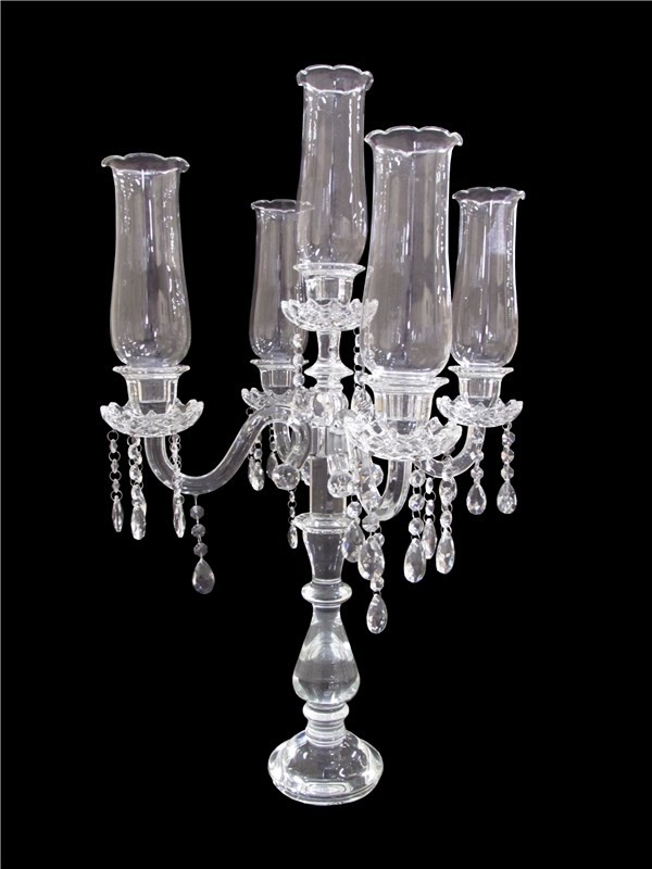 Castiçal Clear de Cristal Transparente 5 Velas - Frontier