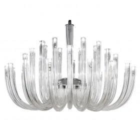 Lustre de Vidro Transparente 32 Lâmpadas MA