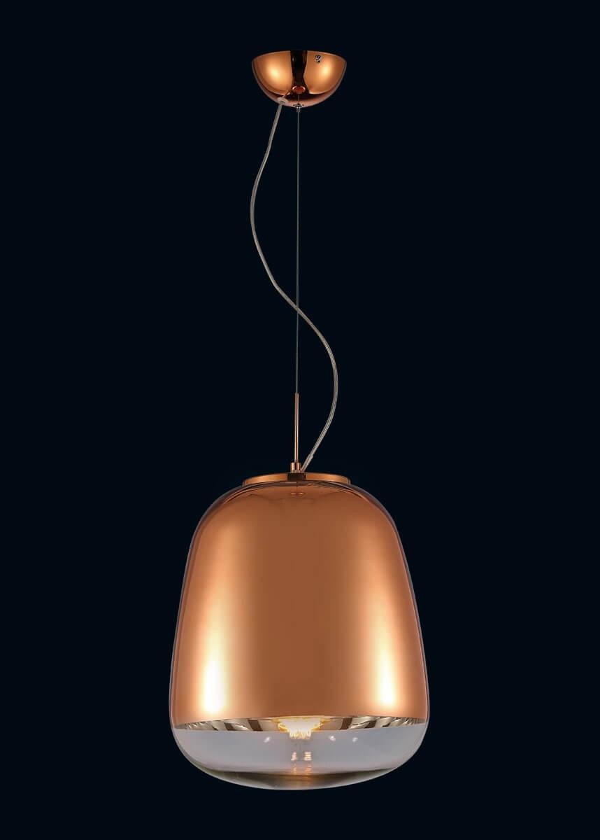 Pendente de Metal Vidro Bronze 01 lâmpada Zorah - Mantra