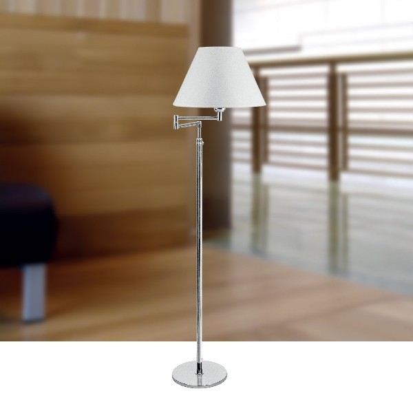 Luminária de Chão Carol Estilo Minimalista 1 Lâmpada Goldenart