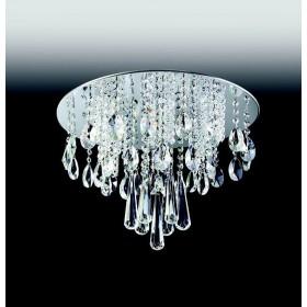 Pendente Moderno de Cristal Transparente e Estrutura Redonda 8 Lâmpadas - Old Artisan