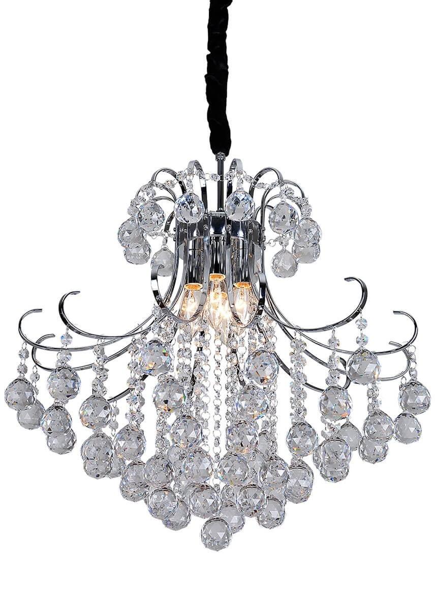 Pendente de Cristal Transparente 4 Lâmpadas SI