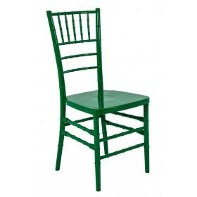 Cadeira Acrilica Tiffany Sem Almofada Verde Escuro