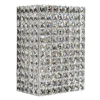 Arandela Stella Cristal Transparente Metal Cromado 2 Lâmpadas - Pier