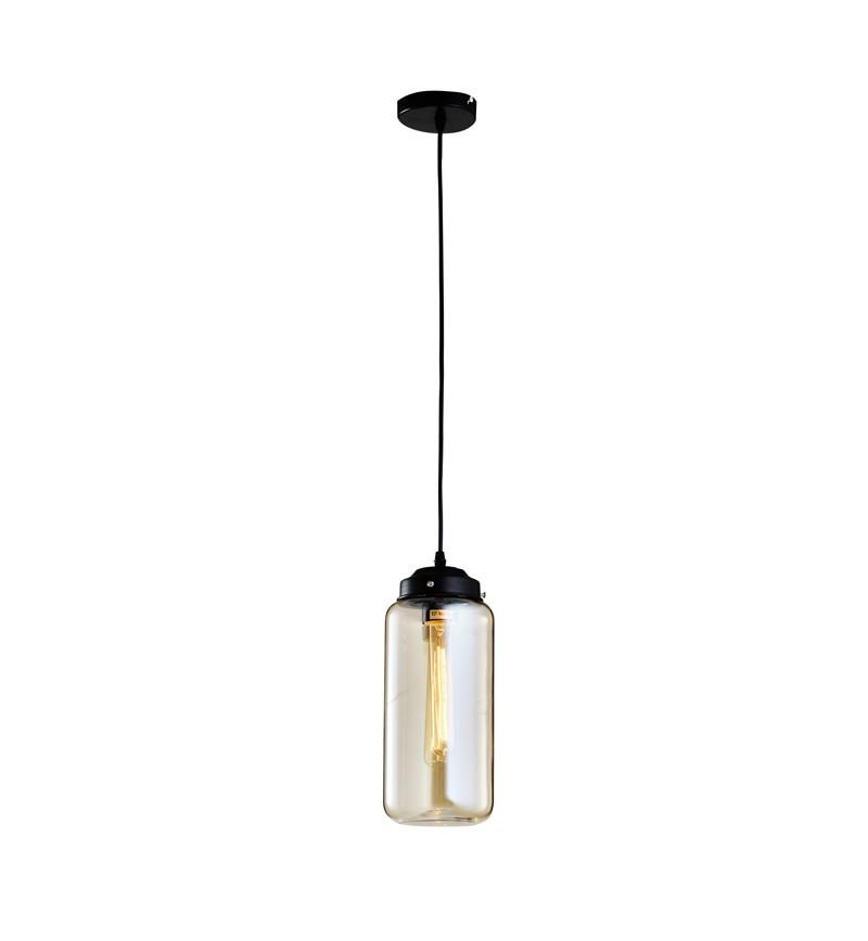 Pendente de Vidro com 1 Lâmpada de Filamento Retro Thomas Edison Fratelli 110V