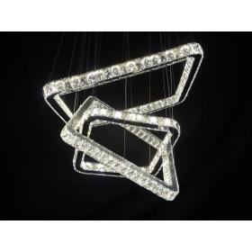 Lustre Lux Transparente Cristal Inox Polido - Guardian