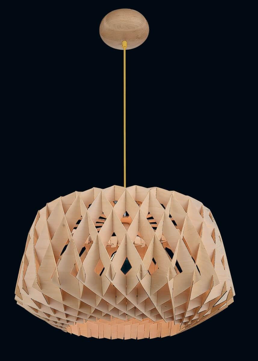 Pendente de Madeira Natural 01 lâmpada