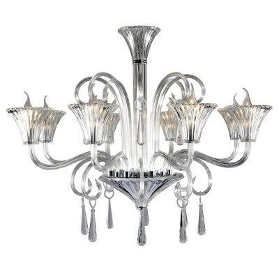 Lustre Cristal Aquiles Metal Cromado 8 Braços - Pier
