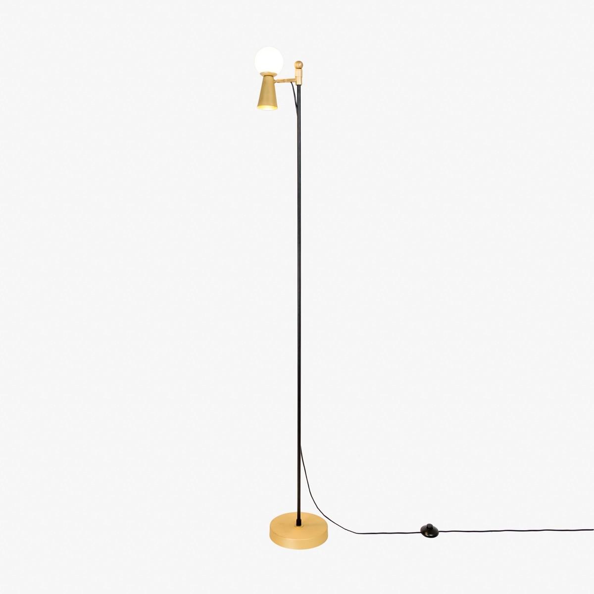 Luminária de Chão Pivô Haste Fixa 2 Lâmpadas Goldenart
