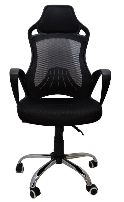 Cadeira Presidente New York Designhair Tela Mesh Estrela Cromada Preta 2b809a6d762