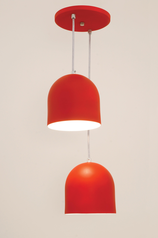 Pendente Sevilha 2 Lâmpadas Vermelho -Auremar