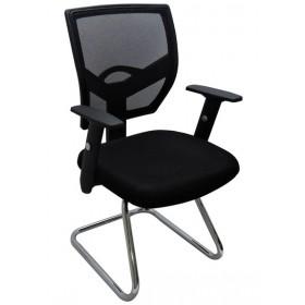 Cadeira Bossdesign SKI Designchair Base Cromada Fixa Preta