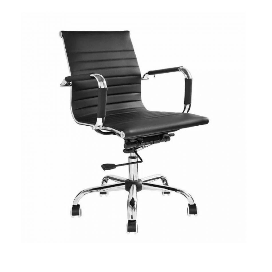 Catálogo de tecidos Cadeira Diretor Base Giratória Cromada Eames Office