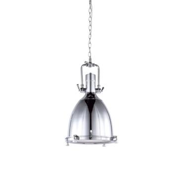 Pendente Kitchen Metal Cromado 1 Lâmpada +Luz Iluminação
