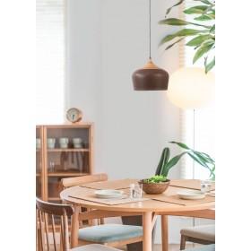 Pendente de Madeira Metal Natural Envelhecido 1 lâmpada Karin - Mantra