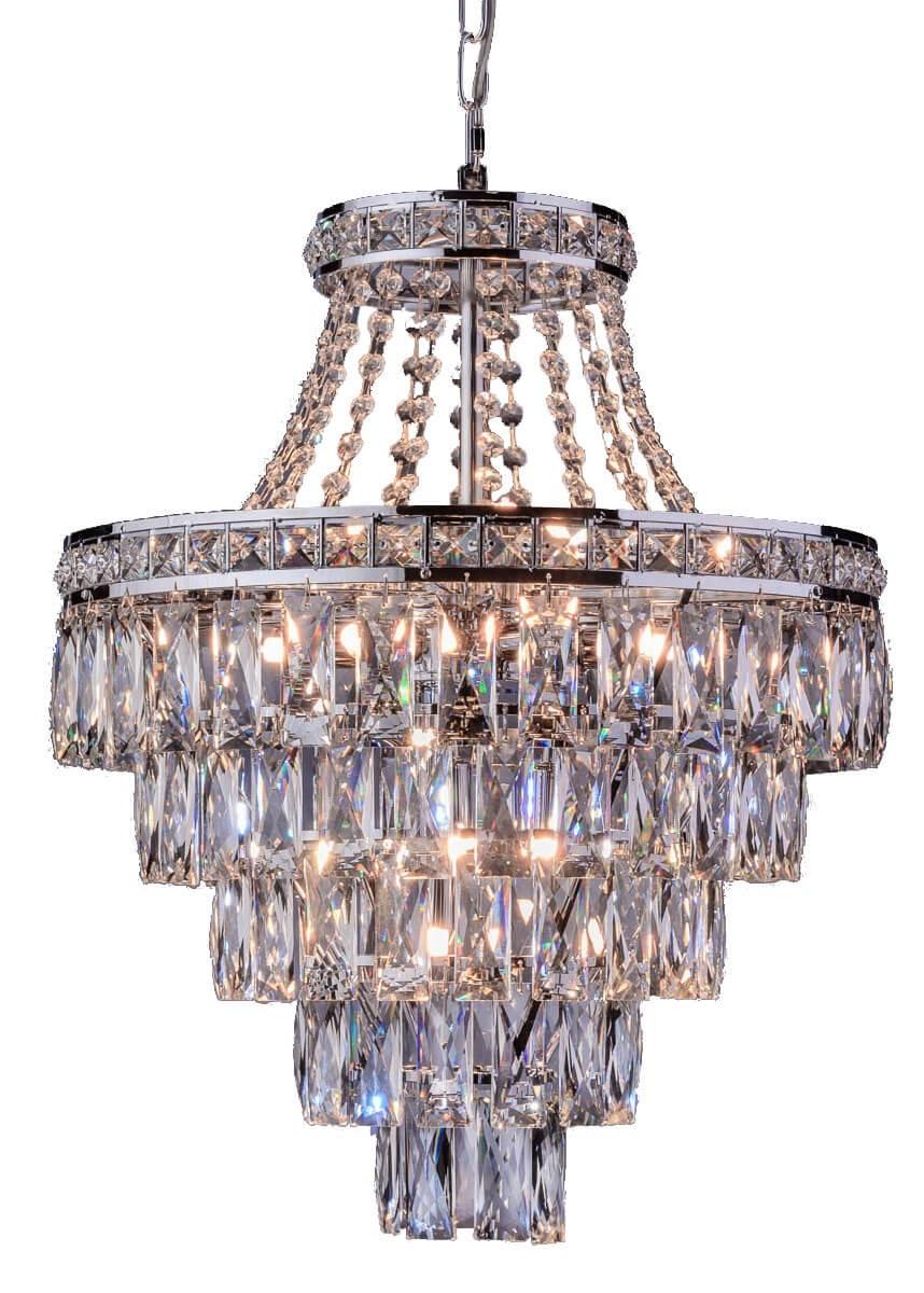 Lustre de Cristal Florença 9 Discos de LED Cromado - Startec