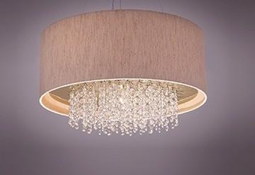 Pendente Laura/ Dourado Escovado 4 Lampadas - Tom Luz Iluminação