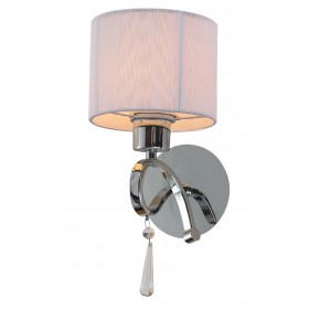 Arandela de cristal 1 lâmpada cúpula branca VZ