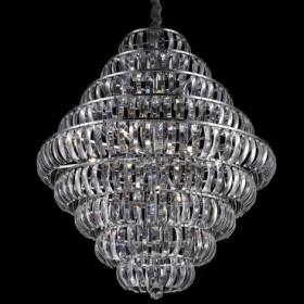 Pendente de Aço Cromado no Vidro 12 Lâmpadas +Luz Iluminação