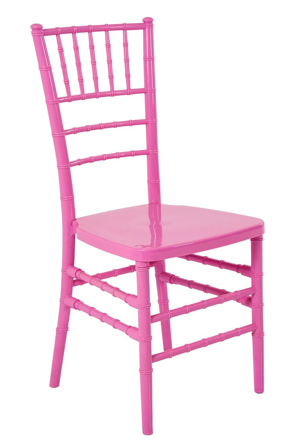 Cadeira Acrilica Tiffany Sem Almofada Rosa