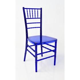 Cadeira Cristal Policarbonato Tiffany Sem Almofada Azul