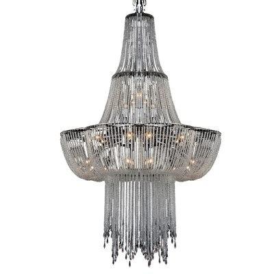 Lustre Imperial Really Cristal Metal Cromado 8 Lâmpadas - Pier