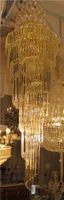Lustre de Cristal Dourado 27 Lâmpadas - Frontier