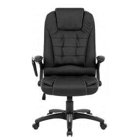 Cadeira De Massagem Designchair Presidente Shiatsu Relax Office Base Giratória - Preta