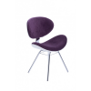 Cadeira Decorativa Bella Base Fixa Roxa com Fundo Branco
