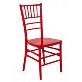 Cadeira Acrilica Tiffany Sem Almofada Vermelha