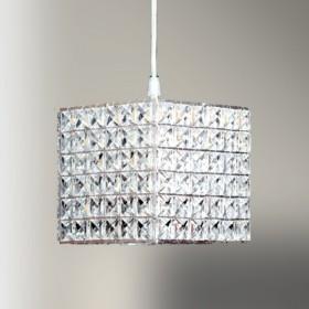 Pendente Quadrado Cristal 1 Lâmpada -GoldenArt
