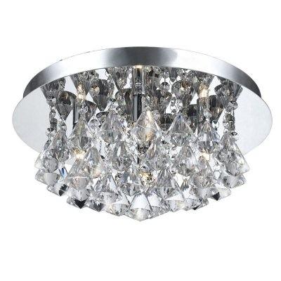 Plafon Splend Cristal Transparente Metal Cromado 12 Lâmpadas - Pier