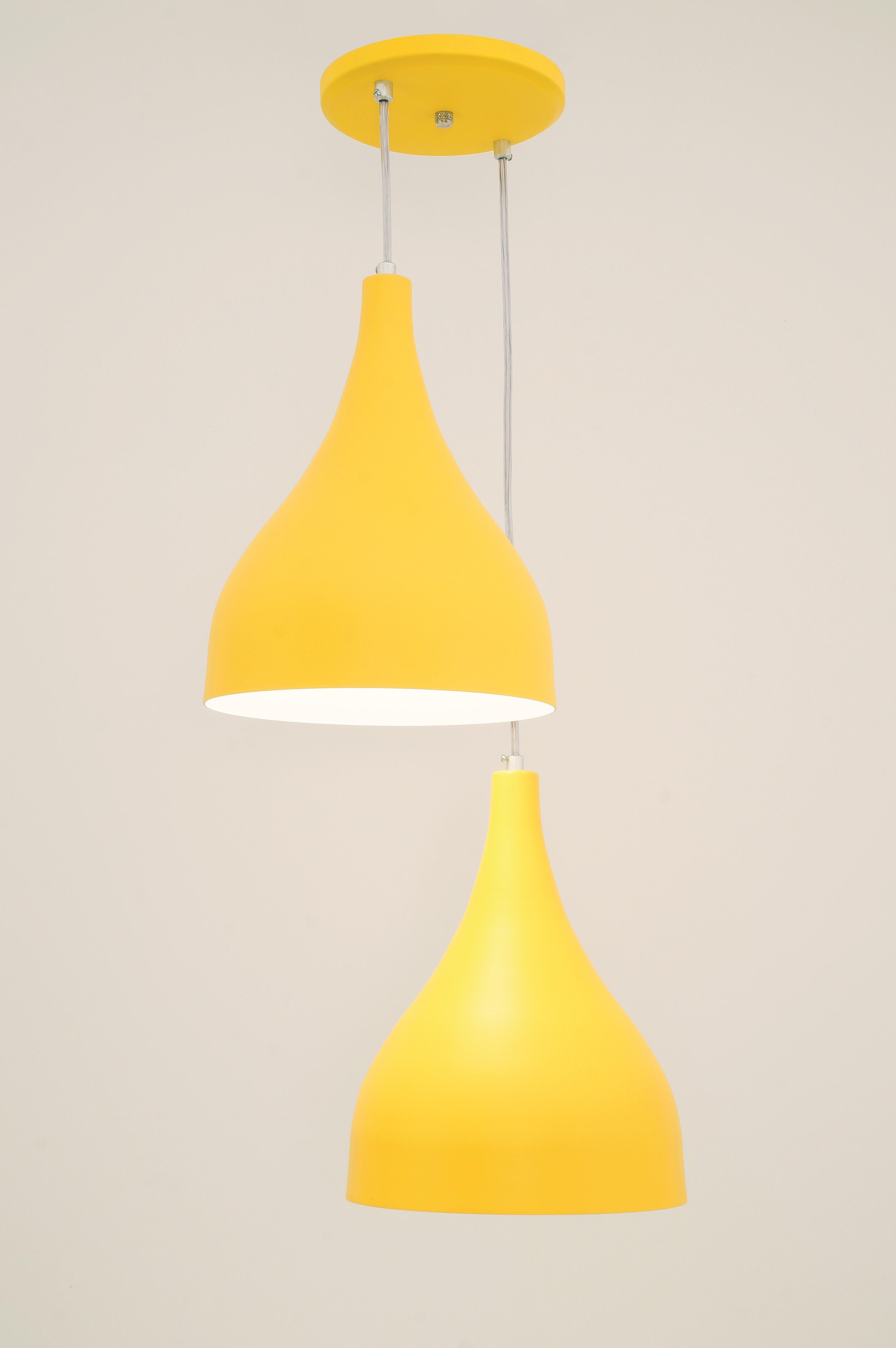 Pendente Ibiza Med 2 Lampada Amarelo - Auremar