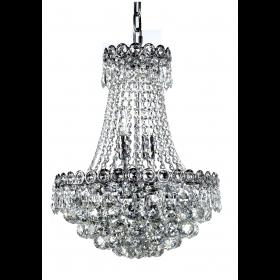Lustre de Cristal 6 Lâmpadas Transparente FT Elizabeth