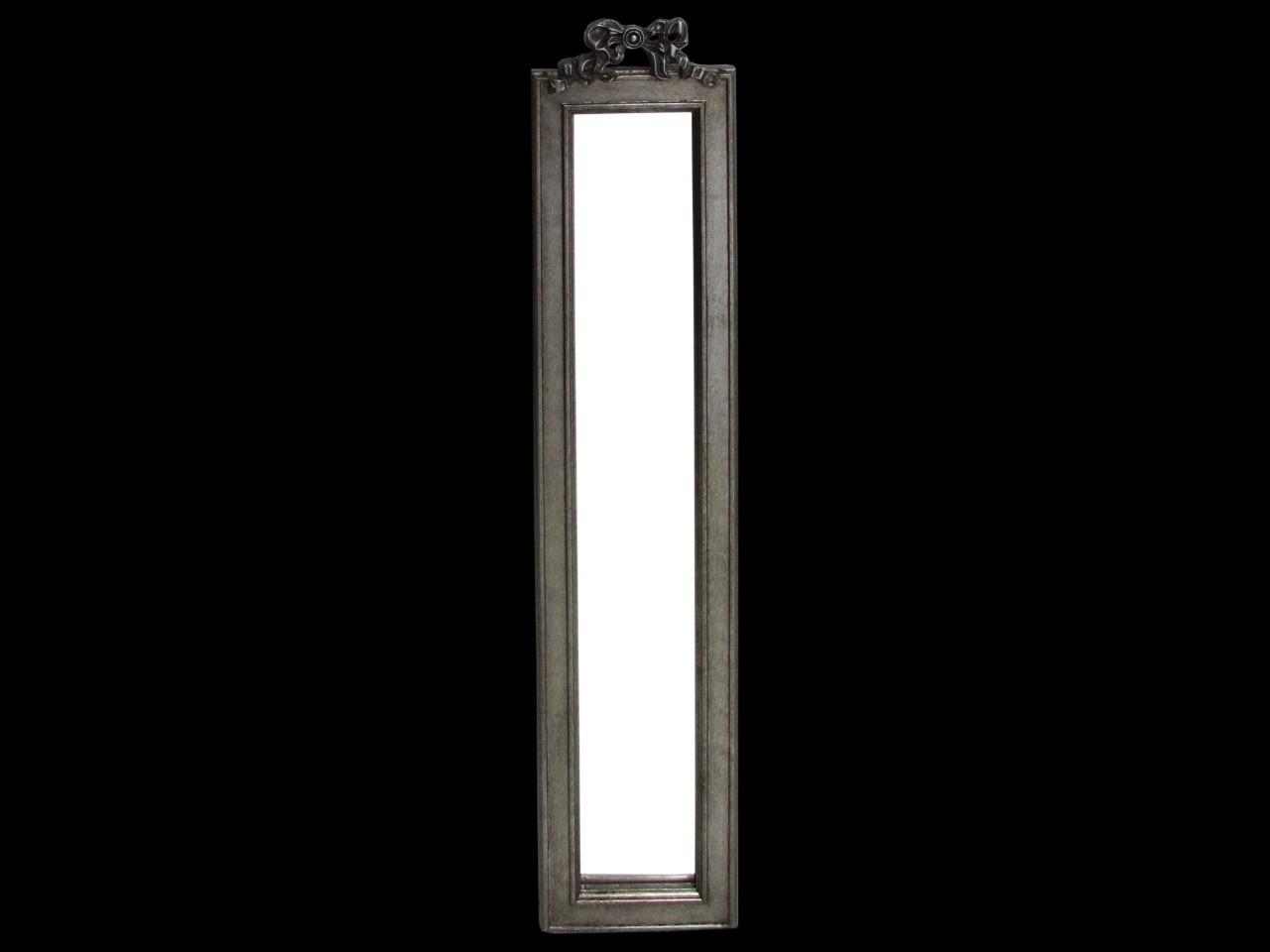 Espelho Retangular Grande Com Detalhe de Laço Preto- frontier